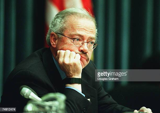 LEGISLATIONBob Barr RGa listens to witnesses testify during the House Subcommittee on Crime hearing on pending guncontrol legislation