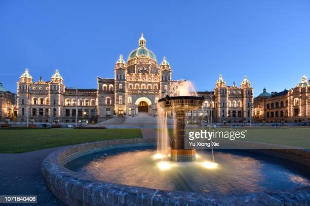 legislative assembly of british columbia - vancouver island stock pictures, royalty-free photos & images