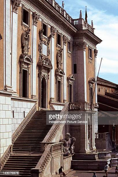 Legislative building on Piazza del Campidoglio and Palazzo Senatorio Rome Italy