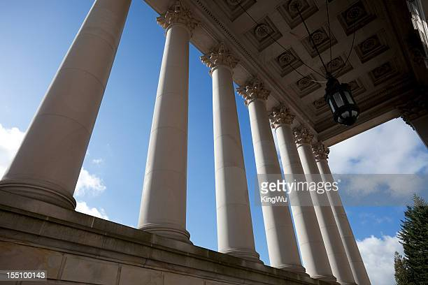 legislative building with columns - capital cities stock photos and pictures