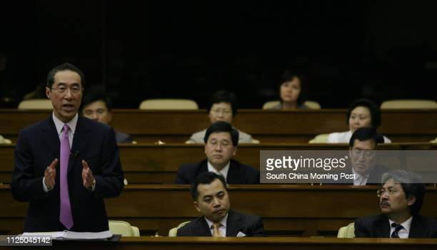 Legislative Council meeting Chief Secretary Henry Tang Yingyen gives a statements on Green Paper on Constitutional Development in chamber Legco Wong...