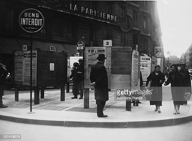 Legislative Elections Electoral Poster In Paris On April 21St 1934