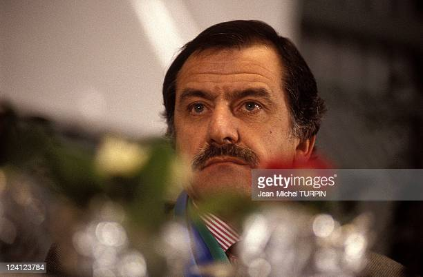 Legislatives Entente ecologiste in Paris France on February 28 1993 Noel Mamere