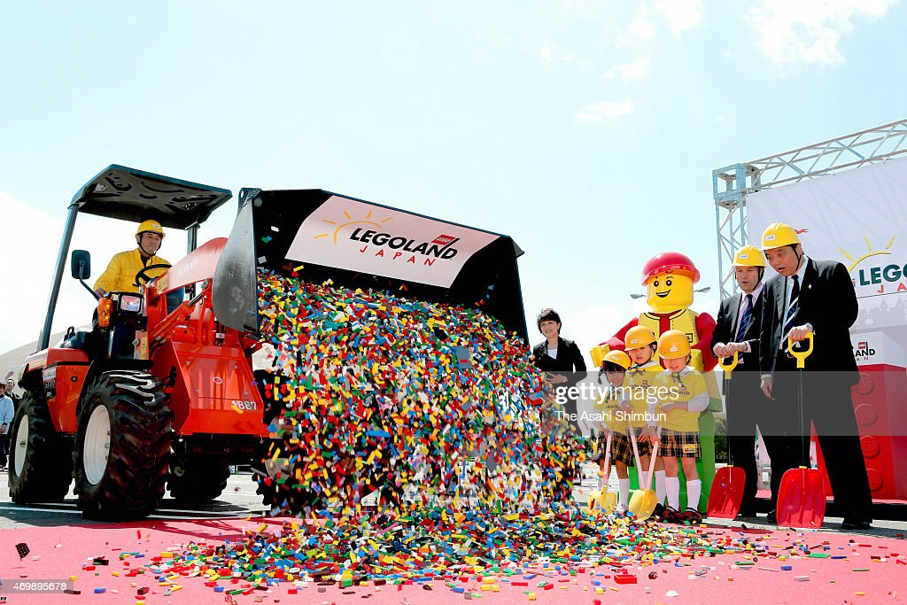 Legoland Japan Groundbreaking Ceremony : News Photo