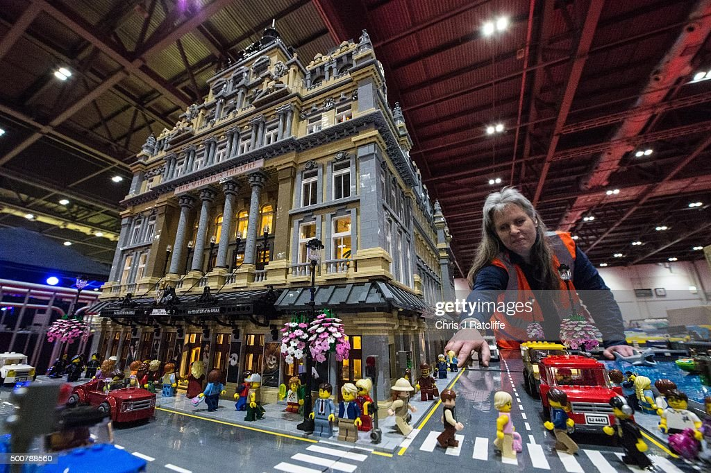 Finishing Touches Are Applied To The Brick Lego Expo 2015 : News Photo