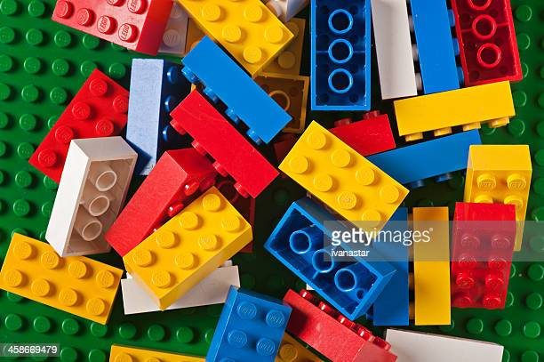 lego building blocks bricks - lego stock pictures, royalty-free photos & images
