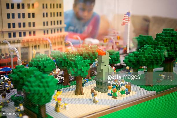 Lego cityscape on display in the new Lego store on Madison Square in New York on Saturday, October 4, 2014. Lego A/S reported that net income rose...