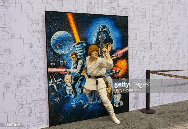 Lego exhibit during the Star Wars Celebration at McCormick Place Convention Center on April 11, 2019 in Chicago, Illinois.