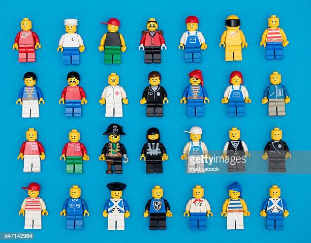 lego figures background - lego stock pictures, royalty-free photos & images
