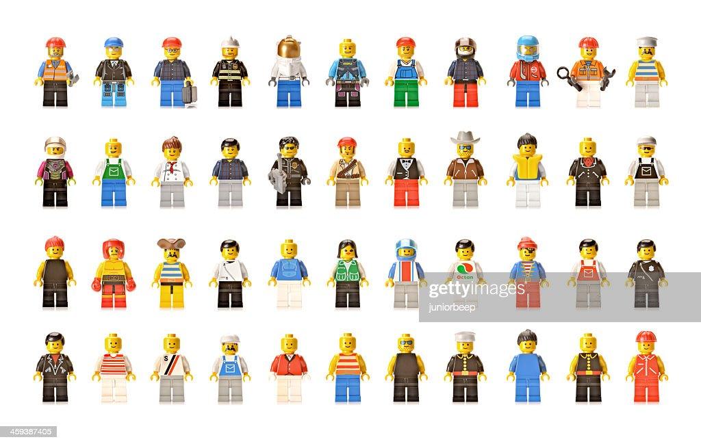 Lego figures men and women : Stock-Foto