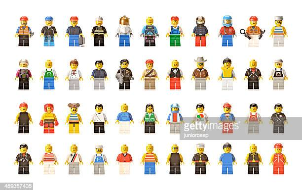 lego figures men and women - lego stock pictures, royalty-free photos & images