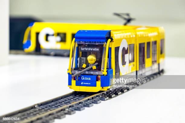 Lego G:link (Gold Coast Light Rail) model tram by Bombardier Transportation.
