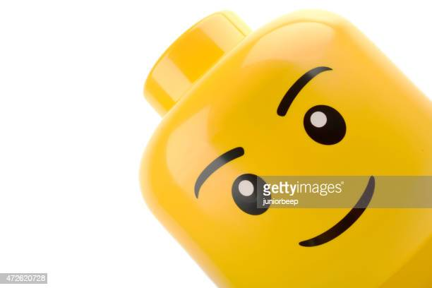 lego head close up - lego stock pictures, royalty-free photos & images