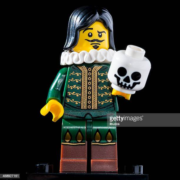 lego minifigures series 8 figurine: the thespian - william shakespeare stock photos and pictures