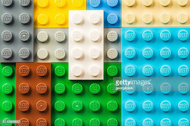 lego pieces macro - lego stock pictures, royalty-free photos & images
