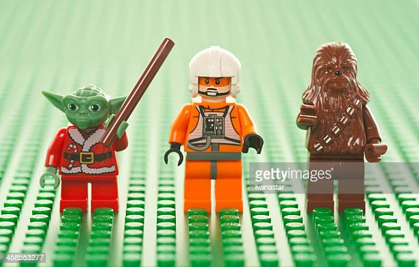 lego star wars figures - star wars stock pictures, royalty-free photos & images