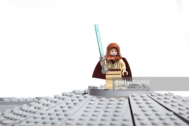 lego star wars toy character: obi-wan kenobi - jedi stock pictures, royalty-free photos & images