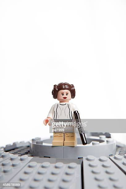 lego star wars jouet caractères: princesse leia organa - lego star wars photos et images de collection