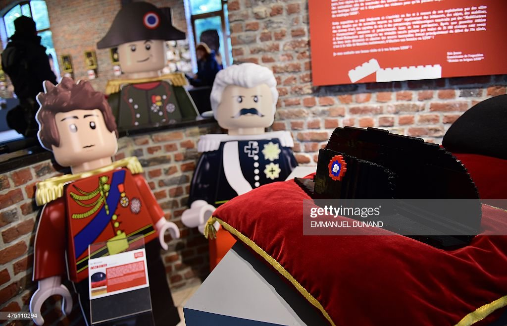 A Lego-bricks-made bicorne hat of former French emperor