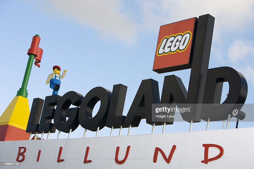 Legoland Billund entrance sign. : Stock Photo