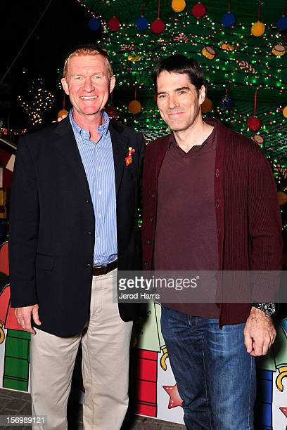 Legoland California CEO Peter Ronchetti and actor Thomas Gibson attend the LEGOLAND California Holiday Snow Days and Winter Nights 2012 tree lighting...