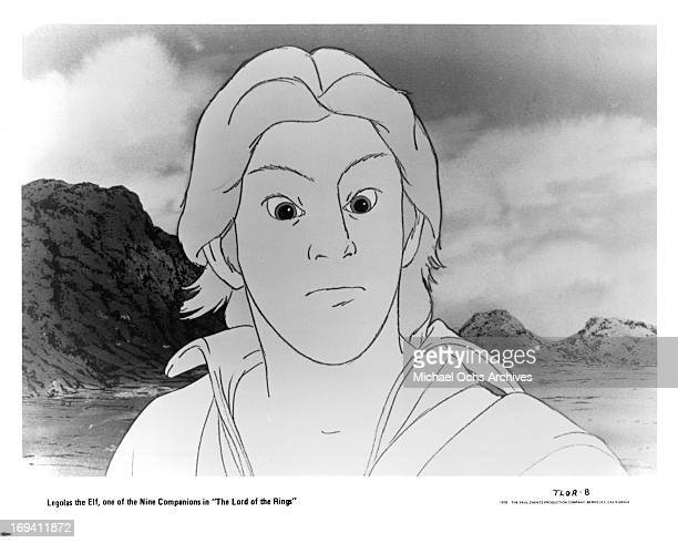 Legolas the Elf in a scene from the film 'The Lord Of The Rings' 1978
