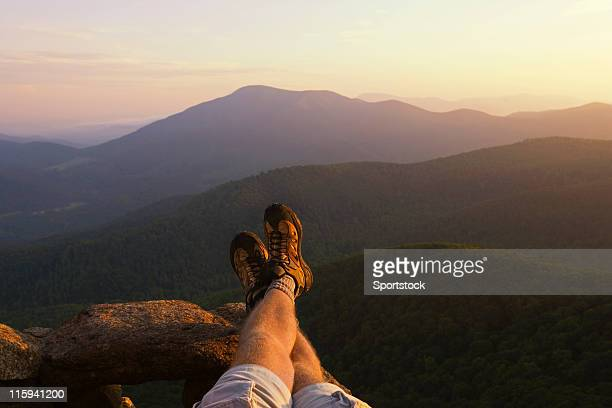 Legs and Feet with Mountain View