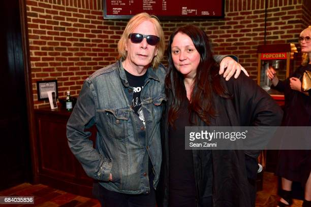 Legs McNeil and Kelly Cutrone attend AS IF Magazine and Tommy Hilfiger celebrates issue 11 and honors Mick Rock at The Roxy Hotel on May 16 2017 in...