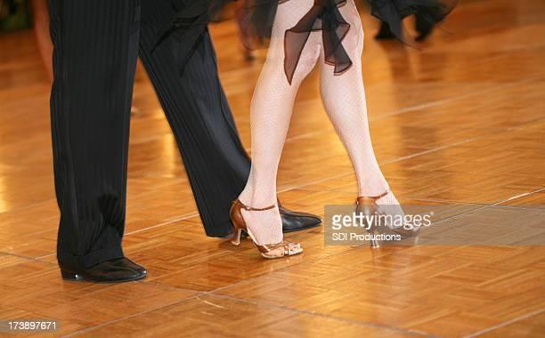 Legs of a Ballroom Dance Couple