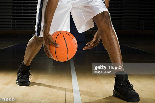 Legs of a basketball player