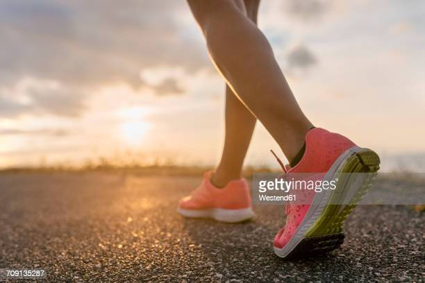 legs of a running woman - human leg stock photos and pictures