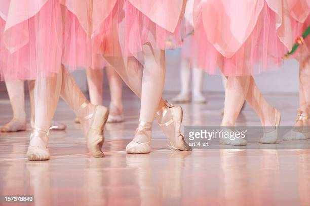 Legs of little ballerinas - balet background