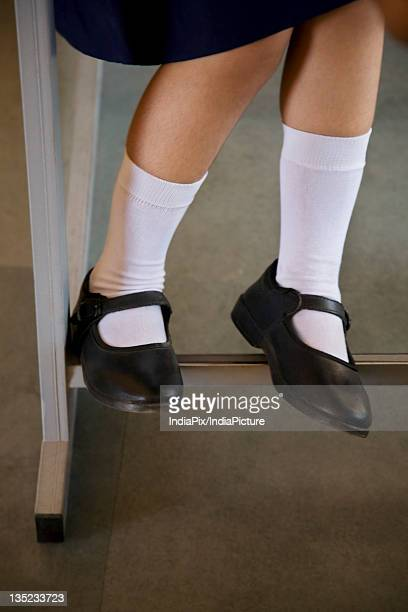 legs of school girl - school girl shoes stock pictures, royalty-free photos & images