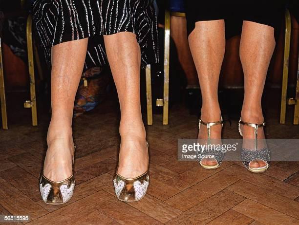 Legs of senior women