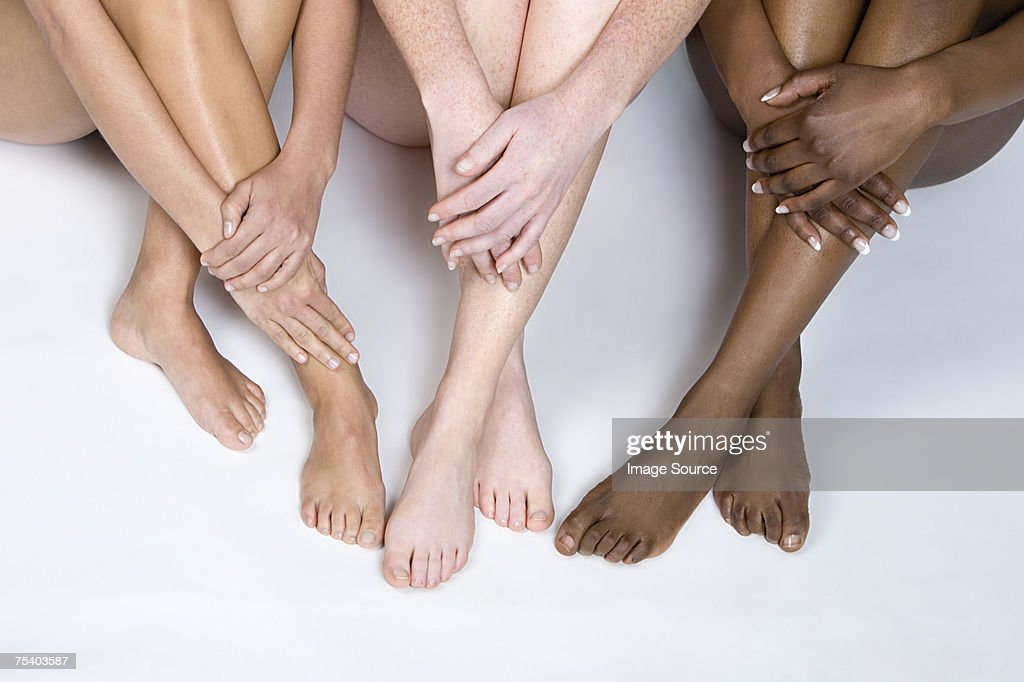 Legs of young women : Stock Photo
