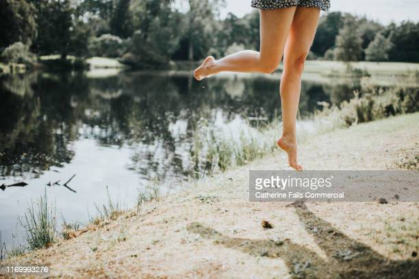 legs - womens pretty feet stock pictures, royalty-free photos & images