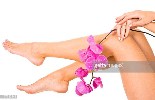 legs - pretty toes and feet stock photos and pictures