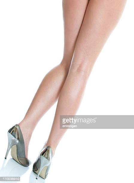 legs - long nylon legs stock pictures, royalty-free photos & images