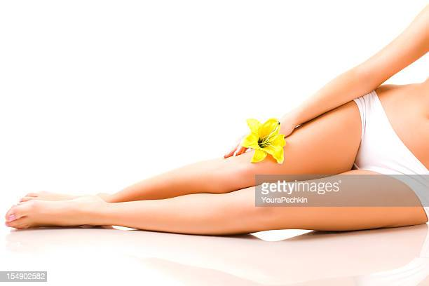 Legs with flower