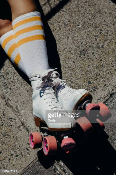 Legs with rollerskates