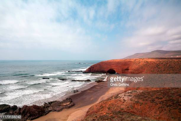 legzira beach, southern morocco - agadir stock pictures, royalty-free photos & images