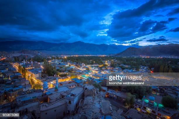 Leh Ladakh at night, India
