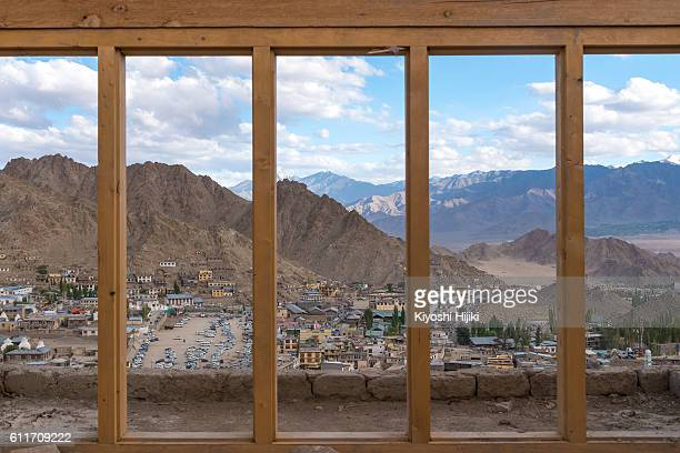 Leh Ladakh city view from Leh palace