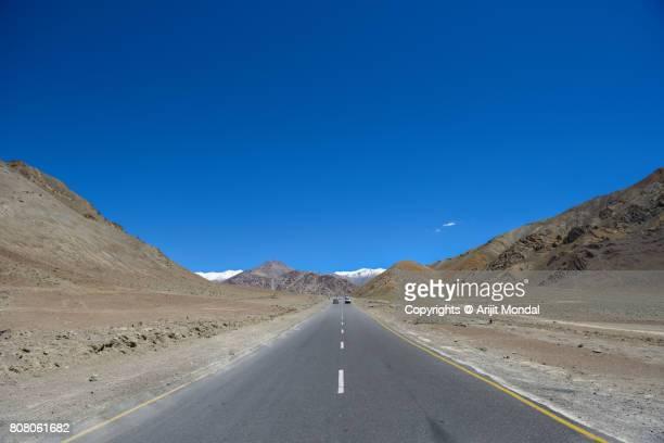 Leh Srinagar Highway at Magnetic Hill, Ladakh