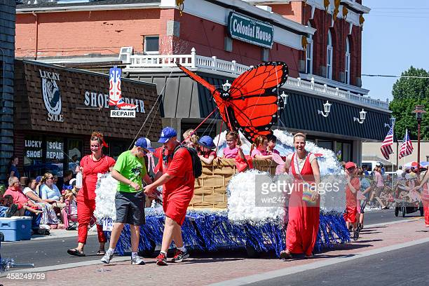 lehi roundup parade: butterfly float - lehi stock photos and pictures