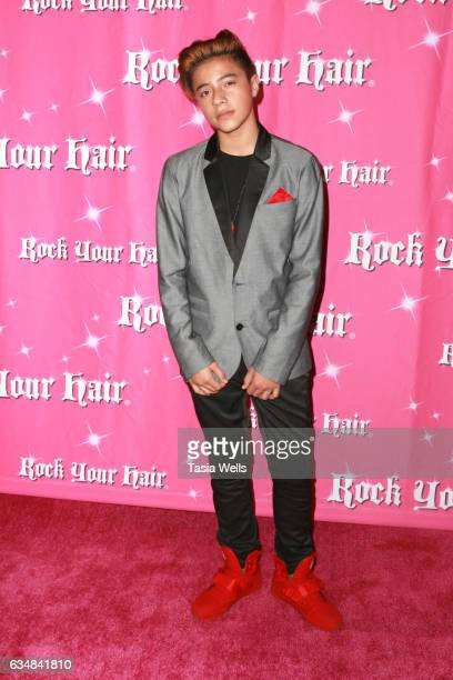 Lehi Tuiaana attends Rock Your Hair presents Valentine's Rocks at The Avalon Hotel on February 11 2017 in Los Angeles California