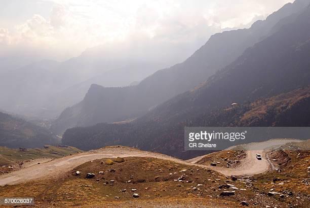 Leh-Manali highway in the Himalayas
