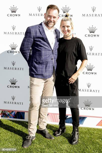 Lehmo and Kelly Kearney arrives ahead of the 2018 Crown IMG Tennis Player at Crown Palladium on January 14 2018 in Melbourne Australia