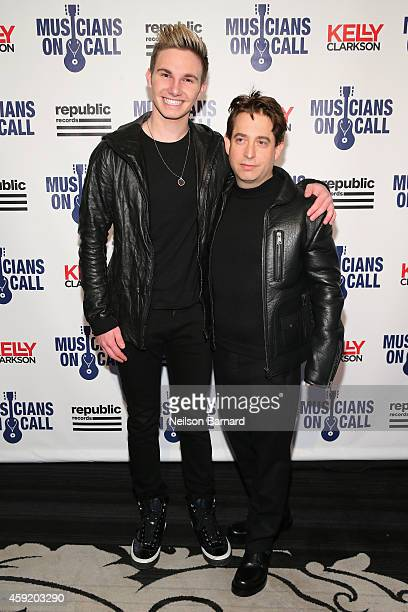 Lehrman and Executive Vice President Of Republic Records, Charlie Walk attend Musicians On Call Celebrates Its 15th Anniversary Honoring Kelly...