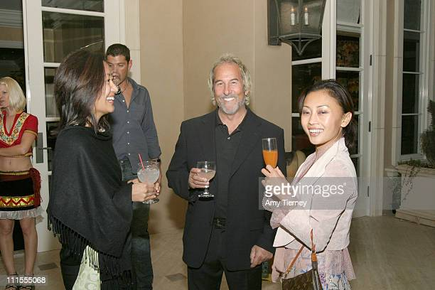 Lei Shishak Bob Purlow and Seyie Putsuro during Frida Kahlo Tequila Launch November 15 2005 at Michael Scott Estate in Los Angeles California United...